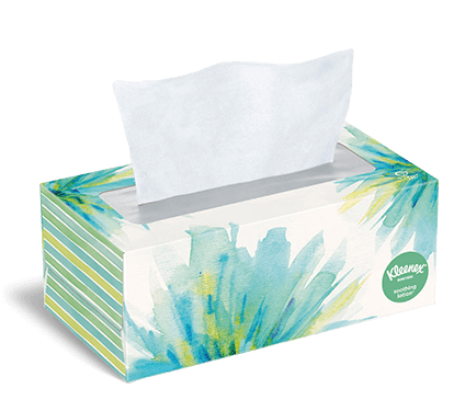 Kleenex® Soothing Lotion moisturizing facial tissues are gentle on skin, perfect for sore noses during cold and flu season.